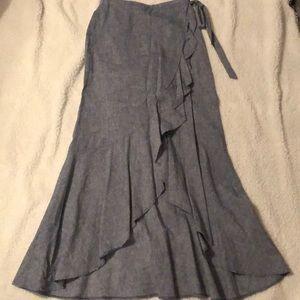 Express wrap long skirt